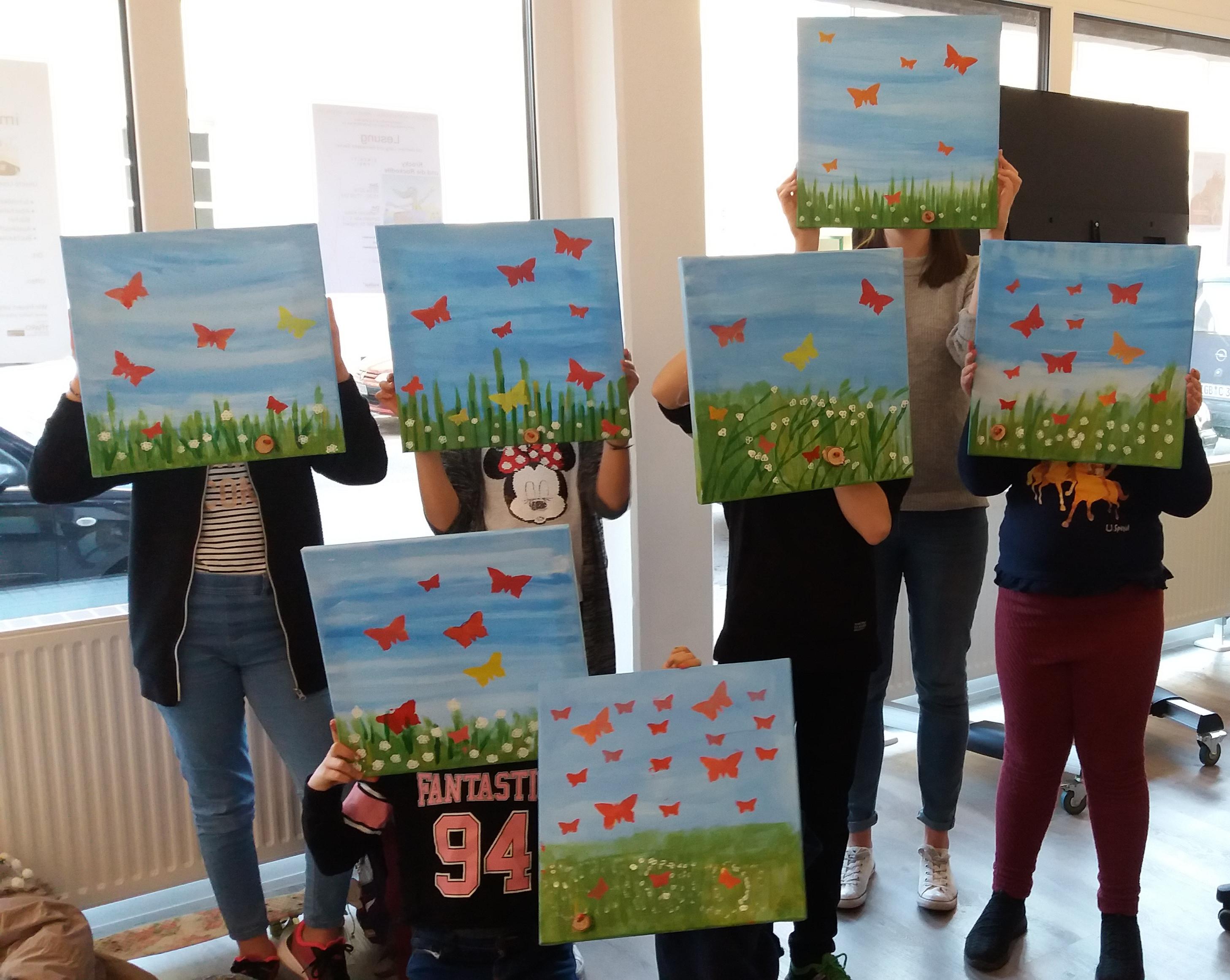 Gruppe der Künstlerkinder